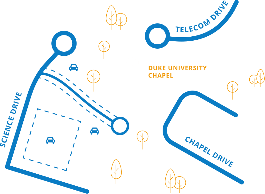 Map to Duke Chapel