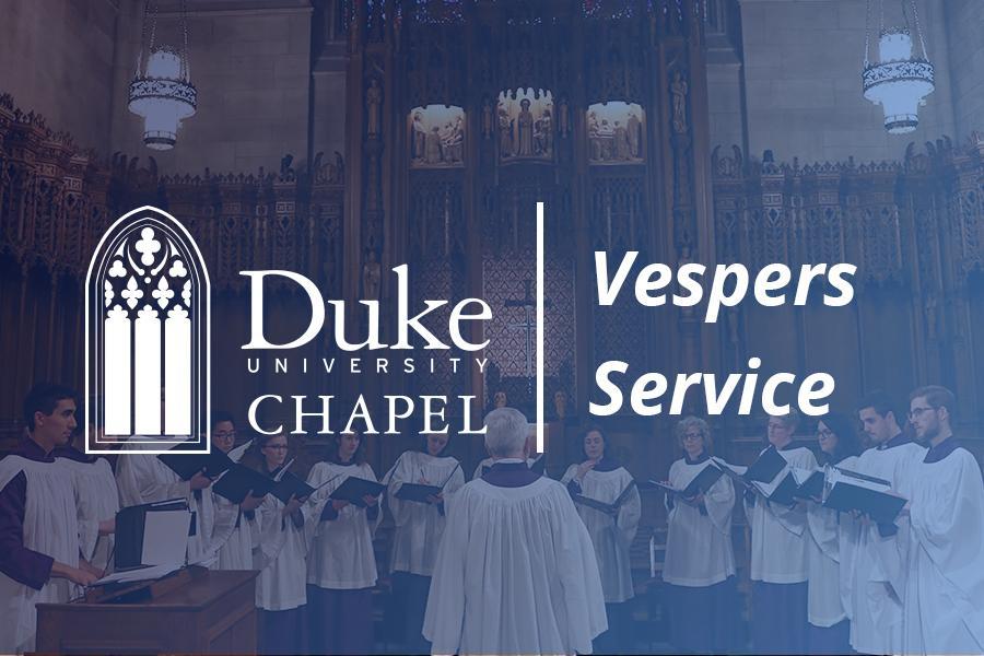 Choir singing during Vespers service