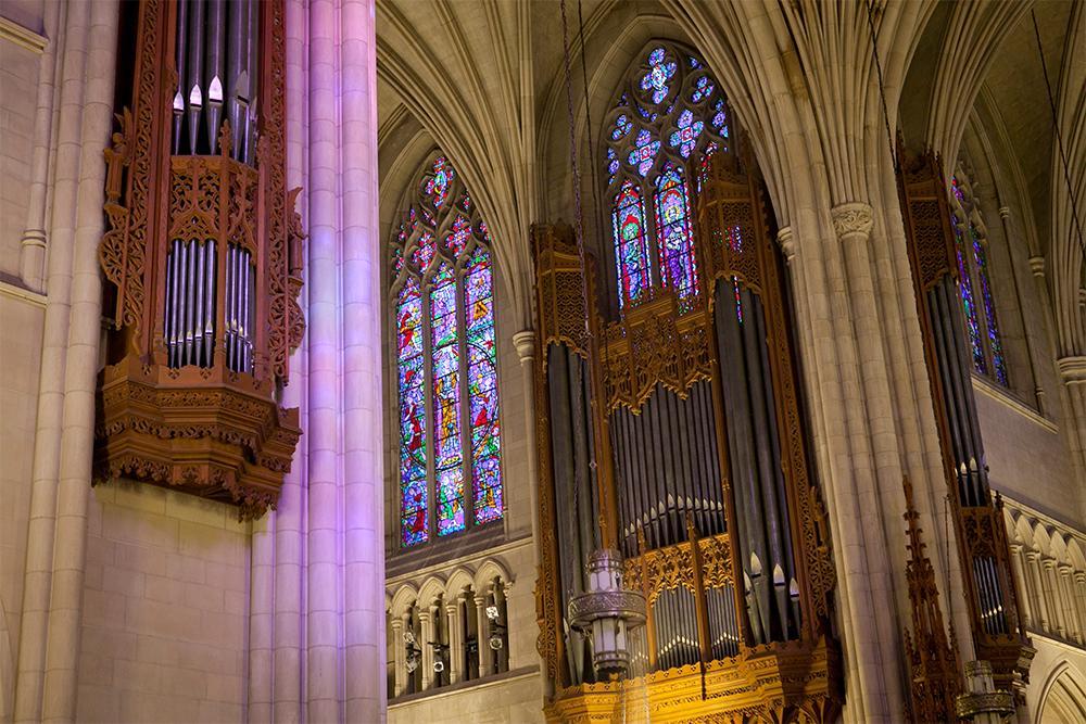 The Aeolian organ inside the Chapel