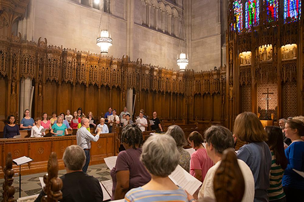 A choir rehearsal