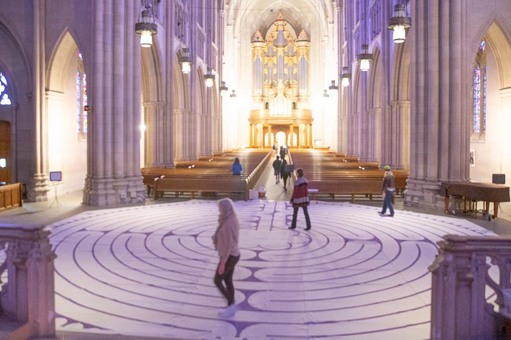 The labyrinth at Duke Chapel