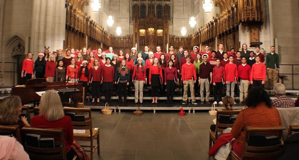 Duke Chorale Christmas concert in Duke Chapel