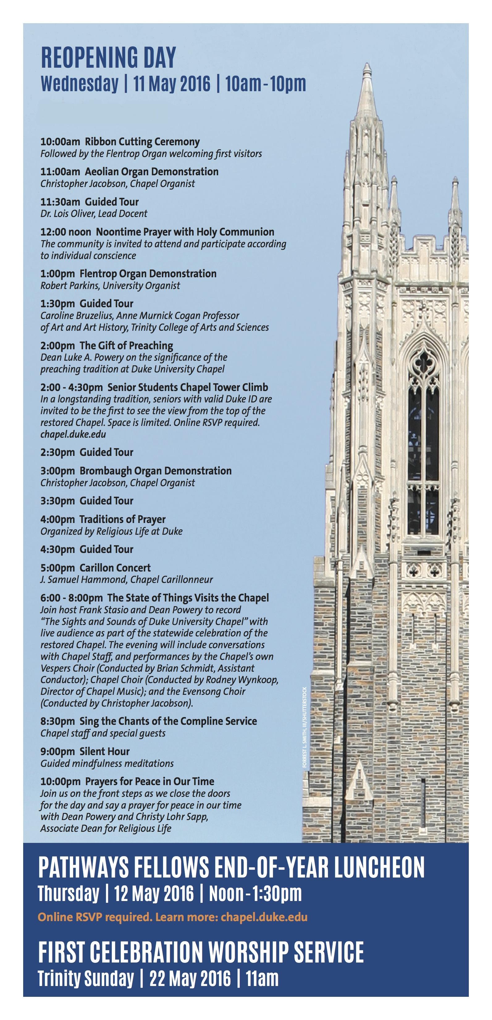 Duke University Chapel Reopening | Duke University Chapel