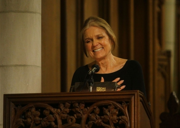 Events inside the Chapel, such as Gloria Steinem's lecture
