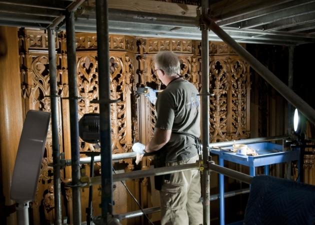 Refurbishing the woodwork