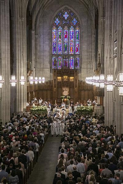 An Easter worship service at Duke Chapel