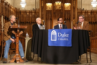 Three deans of Duke Chapel—one current and two former—participated in a public conversation February 27, 2019