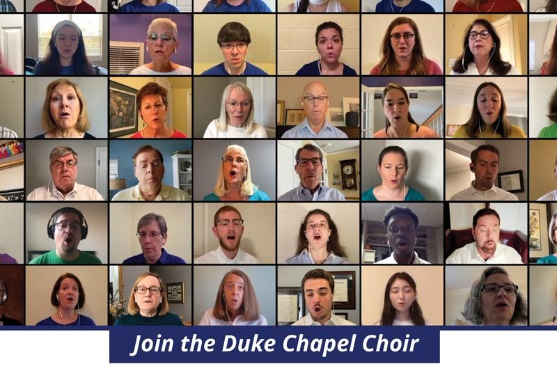 Duke Chapel Choir virtual auditions