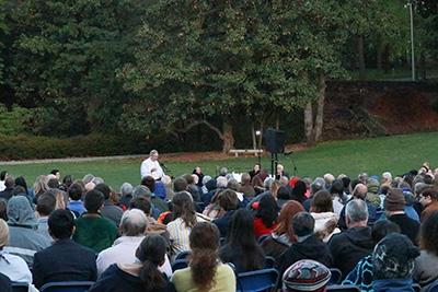 Easter Sunrise Service in Duke Gardens