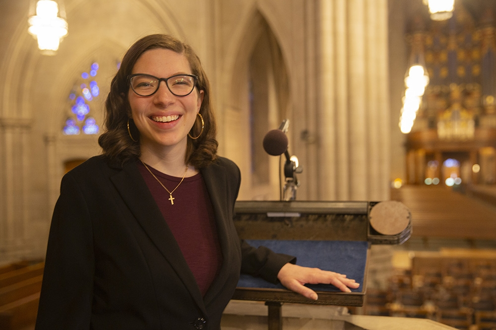 Liddy Grantland is the Chapel's 2020 Student Preacher
