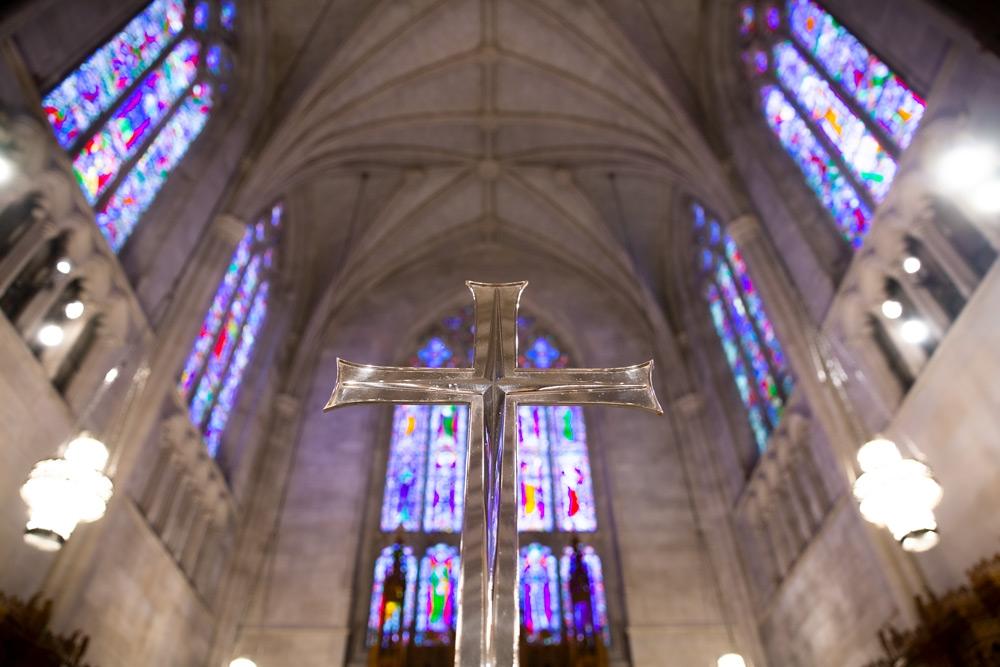 Cross in chancel