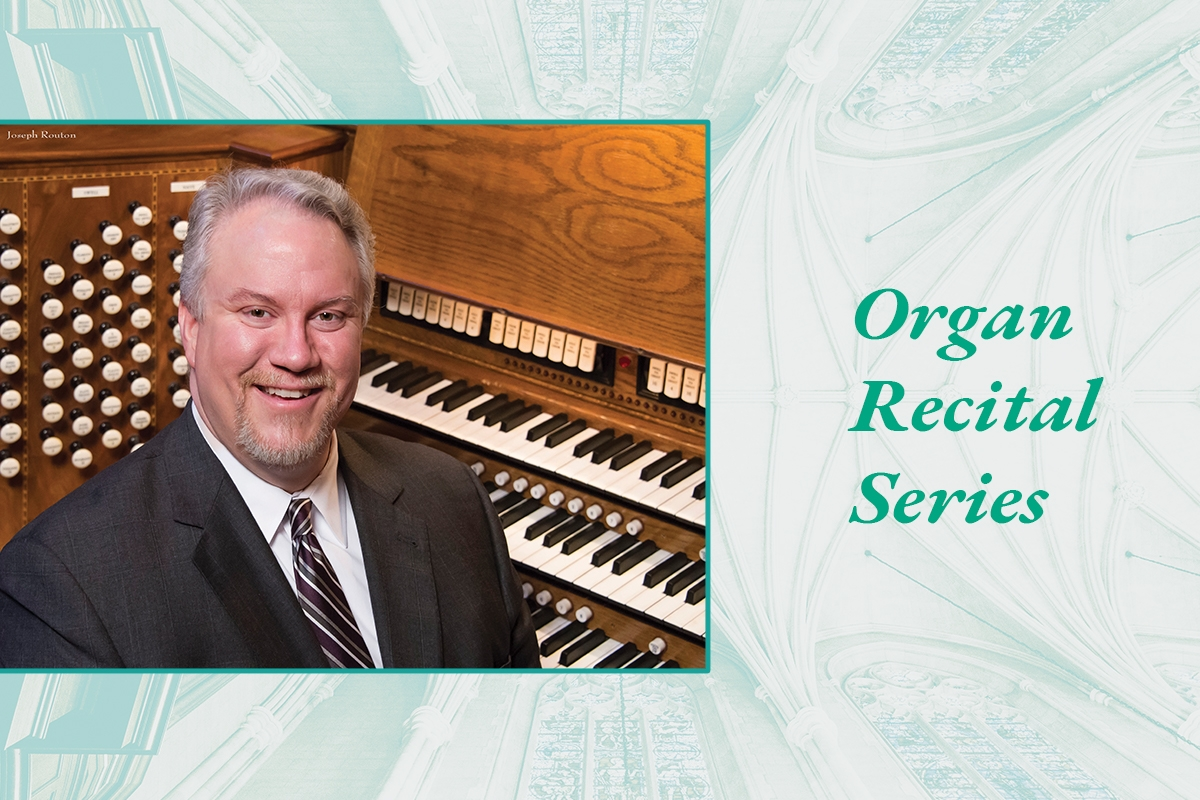 Eric Plutz performing in the Organ Recital Series