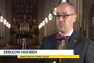 """Zebulon Highben on CBS17 discussing how """"Marvel of This Night"""" was made."""