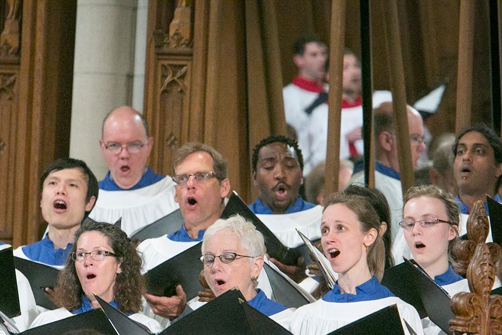 Chapel Choir singing