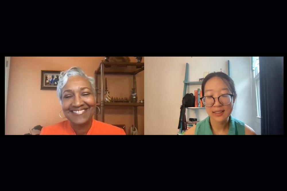 Cynthia Hale and Miriam Cho