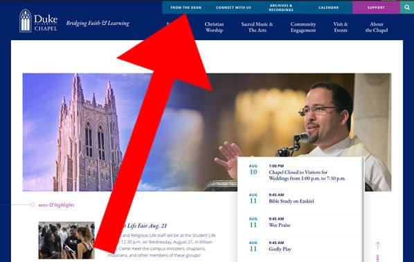 Duke Chapel homepage
