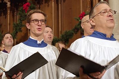 Junior Jannis Stöter (front-left) singing in the Chapel Choir.