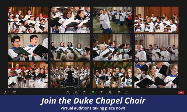 Chapel Choir virtual auditions