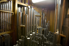 Pipes inside the Flentrop organ