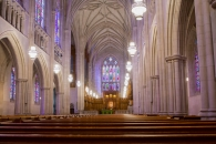 The main sanctuary of Duke Chapel