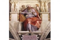 """The Prophet Joel"" by Michelangelo via Art in the Christian Tradition from Vanderbilt Divinity Libra"